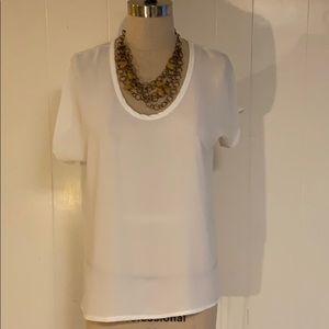 White short sleeve dolman top